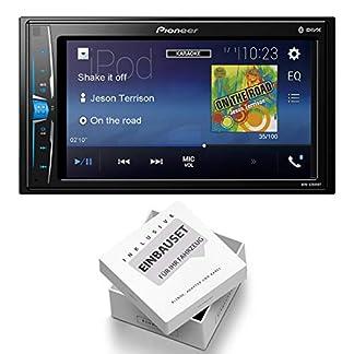 Pioneer-MVH-A200VBT-Radio-Multimedia-Bluetooth-mit-Einbauset-fr-Opel-Astra-H-A-H-2004-2010