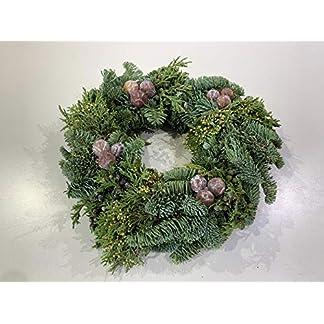 Frischer-Adventskranz-aus-echtem-Tannengrn-Natur-Trkranz-Weihnachten-Deko-WandkranzWeihnachtskranzTischkranz