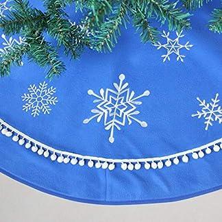 ZHAOLV-Schneeflockenstickerei-mit-Wackelquasten-Border-Blue-Polar-Fleece-Weihnachtsbaum-Rock