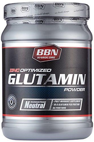 BBN Hardcore Glutamin Powder Neutral, 550 g, 1er Pack (1 x 550 g)