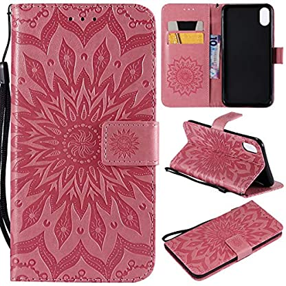 fr-Smartphone-Apple-iPhone-XS-Max-Hlle-Leder-Tasche-fr-Apple-iPhone-XS-Max-65-Zoll-2018-Flip-Cover-Handyhlle-Bookstyle-mit-Magnet-Kartenfcher-Standfunktion-3