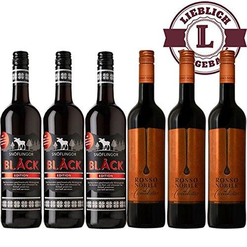 Snflingor-Black-3x075l-Rosso-Nobile-al-Cioccolata-3×075-lieblich-VERSANDKOSTENFREI