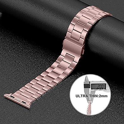 Wealizer-fr-Apple-Watch-Armband-42mm-44mm-38mm-40mm-Edelstahl-Metall-Dnnes-Leichtgewicht-Ersatzband-fr-iWatchApple-Watch-Serie-4-Serie-3-Serie-2-Serie-1