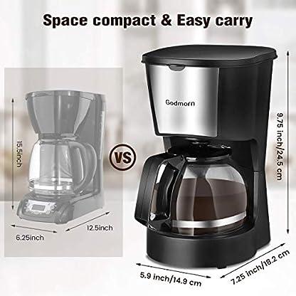 Godmorn-Kaffeemaschine-Filterkaffeemaschine-Automatische-Endabschaltung-4-Tassen-Anti-Tropf-Design-Warmhaltefunktion-40-Minuten-Abnehmbarer-Filter-06L-600W-Platzsparend