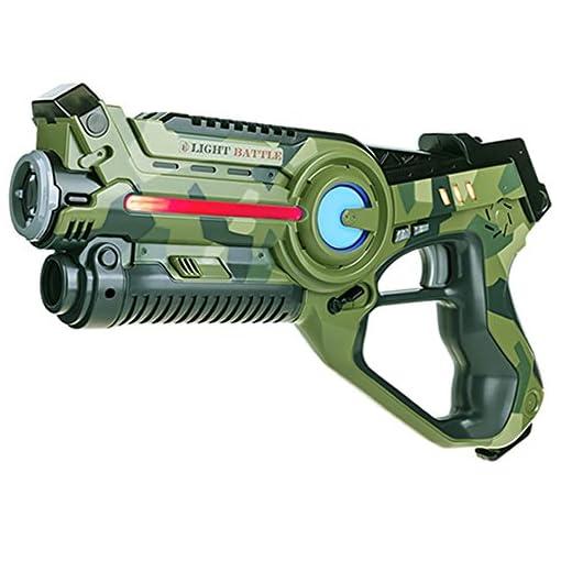 Light-Battle-Lasertag-Kinder-Spielzeug-4X-Active-Lasertag-Pistole-2X-Camo-grn-2X-Camo-grau-LBAP10456D