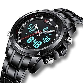 Herren-Schwarz-Uhren-Mnner-Edelstahl-Wasserdicht-Mesh-Uhr-Einfacher-Designer-Analog-Quarz-Stilvolle-Armbanduhren-Luxus-Geschft-Kleid-Gents-Klassische-Uhren-fr-Mnner-mit-Sub-Zifferblat