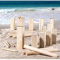 Strand-Kubb-Wikinger-Spiel-Wurfspiel-asu-Holz