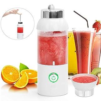 Tragbarer-Mixer-USBMini-Standmixer-Wiederaufladbar-550ml-Juicer-CupPortable-Mini-Mixer-Blender-travel-to-goblendjet-Mobiler-mixer-smoothie-maker-fr-OutdoorObst-Gemse-Sport-Saft-Geschenk-wei