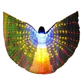 bloatboy-Bauchtanz-LED-Isis-Flgel-Bunte-Schmetterlingsflgel-Bauchtanz-Dance-Kostm-Engelsflgel-Mit-Teleskopstock-fr-Bhnen-Weihnachten-Cosplay-Party