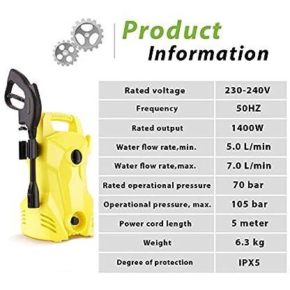 Voluker-Hochdruckreiniger-mit-2-Dsen-und-Bodenreiniger-2000-W-150-Bar-450-lh-Hochdruckreiniger-fr-Autowaschen-Terrasse-und-Haushalt