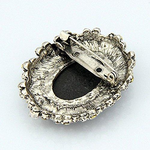 YAZILIND Weinlese-Kristall Harz-Miniatur-Königin Frauen Brosche-Schmucksachen für Hochzeit Beste Geschenk
