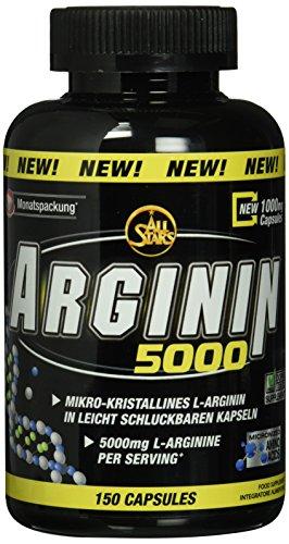 All Stars Arginin 5000 – Kapseln á 1173 mg, 150 Kapseln, 1er Pack (1 x 175 g)