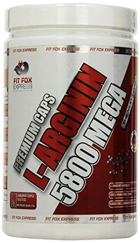Fit Fox Express Premium Caps L-Arginin 5800 Mega, 400 Kapseln, 1er Pack (1 x 556 g)