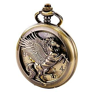 TREEWETO-taschenuhr-mit-kette-herren-bronze-arabische-ziffern-retro-uhr-pegasos-geflgeltes-pferd-taschenuhren-mechanisch-pocket-watch