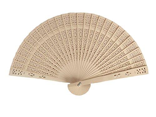 Demarkt-Handfcher-Holz-Hand-Fan-Holz-Handfcher-Fcher-Faltbar-Holz-Fcher