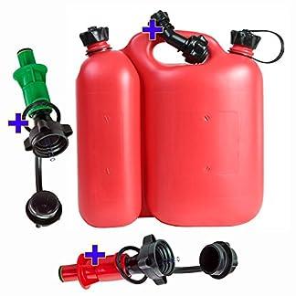 Doppelkanister-553-Liter-rot-inkl-1-Ausgiesser-und-2-Sicherheits-Einfllsysteme-rot-und-grn-Kombikanister