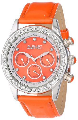 August-Steiner-Damen-Vida-Analog-Display-Multifunktions-Dazzling-Armbanduhr