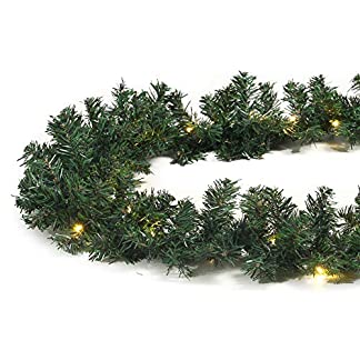 40-LED-Girlande-grn-beleuchtet-Tannengirlande-270-cm-Weihnachten-auen