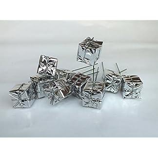Adventskranz-Deko-Pckchen-am-Draht-25-cm-Silber-10-Stck
