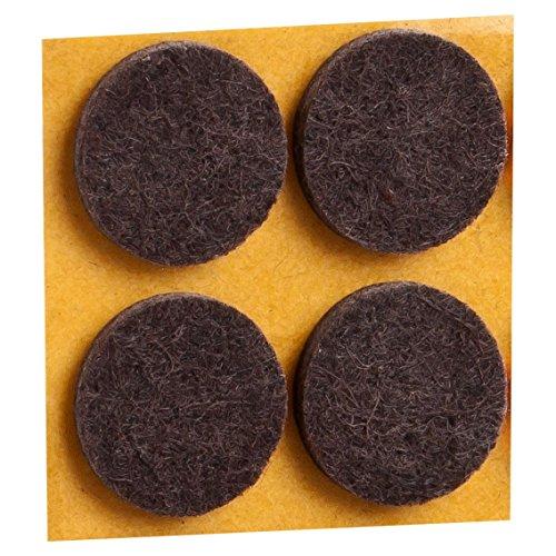 haggiy® Filzgleiter, selbstklebend, rund, Ø=50mm, braun (4 Stück)