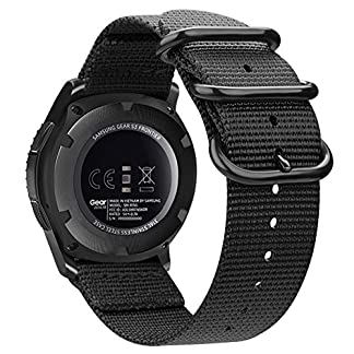 Fintie-Armband-kompatibel-fr-Samsung-Galaxy-Watch-46mm-Gear-S3-ClassicGear-S3-FrontierHuawei-Watch-GT-Nylon-Uhrenarmband-verstellbares-Ersatzband-mit-Edelstahlschnallen