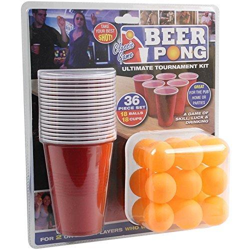 36-Stck-Bier-Pong-Ultimate-Turnier-Set-Becher-Blle-Erwachsene-Trinken-Spiel-set