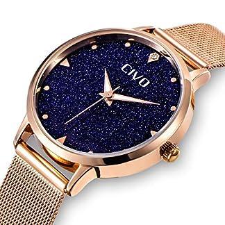 CIVO-Damen-Uhr-Frauen-Rosgold-Edelstahl-Wasserdicht-Armbanduhr-Mdchen-Jugendliche-Einfach-Lssige-Modish-Analoge-Uhren