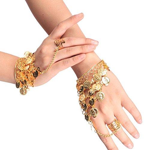 Lucky Will Damen Frauen Bauchtanz Belly Dance Armband Armreif Handschmuck Armbänder