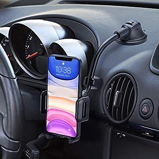 Mpow-Handyhalterung-Auto-KFZ-Smartphone-HalterungArmaturenbrett-Windschutzscheiben-2-in-1Handyhalter-AutoStofest-Stabilisator-und-Ein-Taste-DesignHandyhalter-frs-Auto-fr-iPhoneXSGalaxy-LG-usw