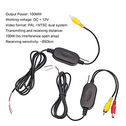 POMILE-Auto-HD-24G-Modul-Adapter-Wireless-Transmitter-Receiver-12V-fr-Auto-KFZ-Rckfahrkamera-Sender-Empfnger