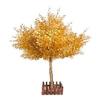 XUANLAN-Realistischer-knstlicher-Baum-Simulation-Goldbaum-Knstlicher-Goldener-Eukalyptusbaum-Groes-goldenes-Fenster-Geflschter-Baum-Wunschbaum-Simulationsbaum-Leicht-zu-reinigen