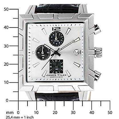 James-Tyler-Herren-Armbanduhr-Quarz-Chronograph-Quadratisch-Edelstahl-gebrstet-JT710-3