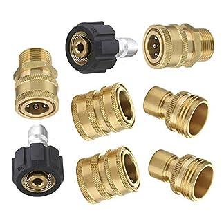 8pcs-Ultimate-Hochdruckreiniger-Adapter-Kit-Auto-Spritzpistole-Anschluss-Set-M22-38-Quick-Connect-34-Schnellspanner