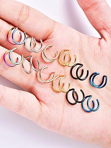 12 Stücke Edelstahl Ohrknorpel Manschette Nicht Piercing Clip Ohrstulpe Ohrringe für Frauen und Männer, 6 Paar