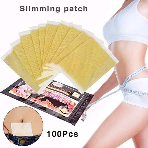 100pcs Nabelbauch Abnehmen Patch, 10 Stück/Tasche Licht und praktische Fettverbrennung Patch, Klebstoff Faule Paste Slim Pad