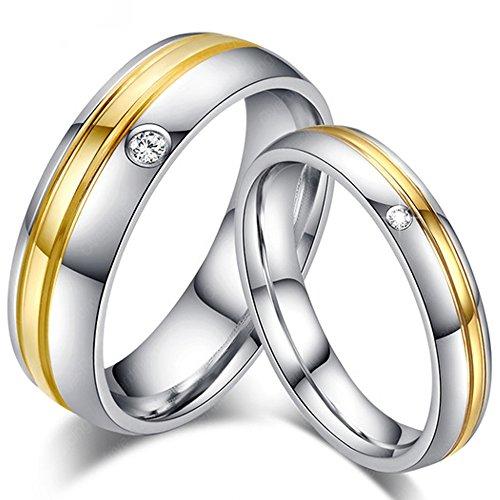 Partnerringe Freundschaftsringe – Chirurgischer Edelstahl – Verlobungsringe Eheringe Hochzeitsringe Trauringe – Modell 80501