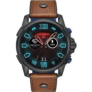 Diesel-Herren-Smartwatch-mit-Leder-Armband-DZT2009
