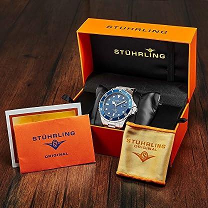 Stuhrling-Original-Edition-Tiefblau-Zifferblatt-Selbstaufziebar-Herren-Taucheruhr-200M-Wasserdicht-einseitig-drehbare-Lnette-Solide-Edelstahl-Armband-Verschraubte-Mode-Krone-Sportuhr