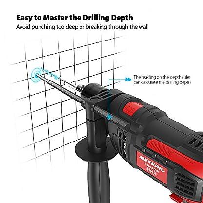 Bohrmaschine-Meterk-Schlagbohrmaschine-850w-3000-RPM-Hammer-und-Bohrer-2-in-1-Tiefenanschlag-und-Schnellspann-Bohrfutter-verstellbarer-Zusatzhandgriff