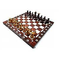Prime-Chess-Ambassador-Kirsche-Hlzern-Schachspiel-54cm-21-Zoll-gro-Premium-Qualitt