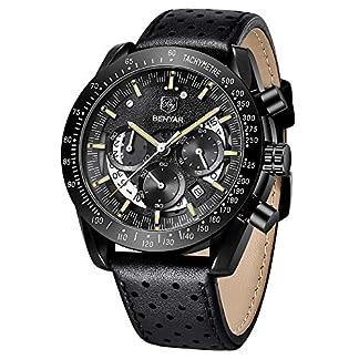 BY-BENYAR-Sport-Casual-Chronograph-wasserdichte-Armbanduhr-mit-analogem-Quarzwerk-fr-Herren