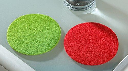 Filz Untersetzer rund, 8er Set, 4 x grün 4 x rot, Filzuntersetzer waschbar Gilde