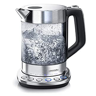 Arendo-Glas-Wasserkocher-mit-Temperatureinstellung-Warmhaltefunktion-30min-15-Liter-Fllmenge-robustes-Borosilikatglas-Basisstation-aus-Edelstahl-Modernes-Design-Zertifiziert-BPA-Frei