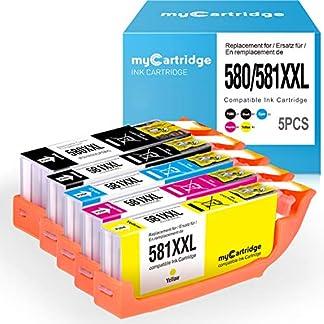 MyCartridge-kompatibel-Canon-PGI-580-CLI-581-XXL-Tintenpatronen-mit-CHIP-fr-Canon-PIXMA-TS6150-TS6151-TR7550-TS8150-TS8151-TS8152-TR8550-TS9150-TS9155-Drucker