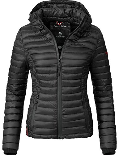Marikoo Damen Übergangs-Jacke Jacke Steppjacke Samtpfote 15 Farben XS-XXL