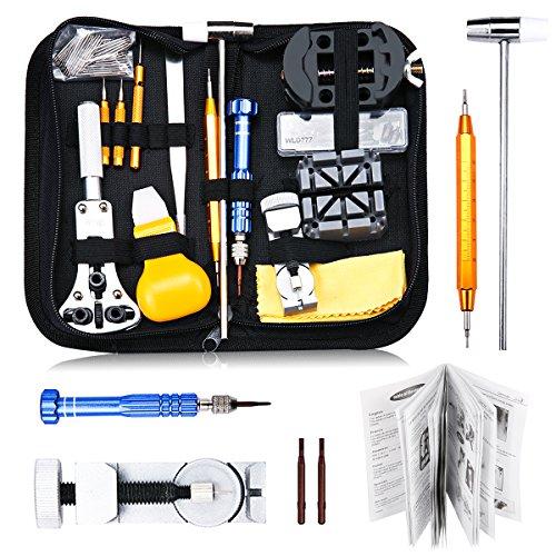 Uhrenwerkzeug-Set-147tlg-Baban-Uhrmacherwerkzeug-Uhr-Werkzeug-Tasche-Reparatur-Watch-Tools-in-schwarze-Nylontasche-Upgrade-Version-Reparaturwerkzeug-fr-Die-Meisten-Uhren-Geeignet