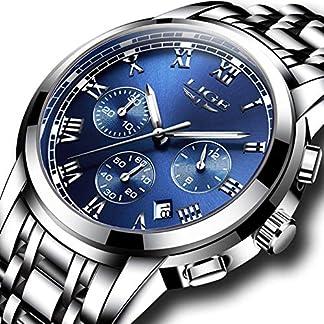 SUNWH-Uhren-Herren-Luxus-Marke-Chronograph-Herren-Sport-Uhren-wasserdicht-Edelstahl-Quarz-Herren-Armbanduhr-Blau