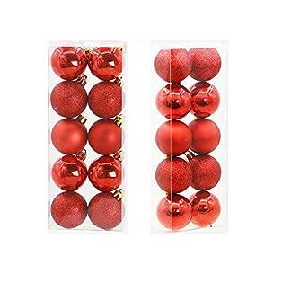 FeiliandaJJ-10PCS-5CM-Weihnachtskugel-Boxed-Matt-Scrub-Glnzend-Kugel-Weihnachten-Deko-Anhnger-Christbaumkugeln-fr-Weihnachtsbaum-Party-Home-Hochzeit