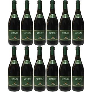 Lambrusco-rosso-dolce-Gualtieri-DellEmilia-IGT-mit-Schraubverschluss-12-X-075-L-Vino-Frizzante-Roter-Ser-Perlwein-75-Vol-aus-Italien