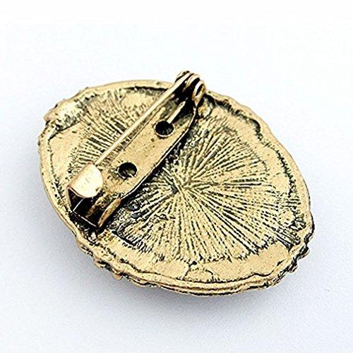 YAZILIND Jahrgang viktorianisches Design Königin Lady Cameo-Schwarz-Emaille Brosche Mode-Schmucksachen